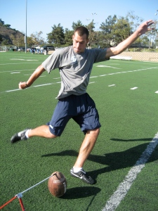 Stanley Shurson kicking in a private lesson with TKS in San Diego